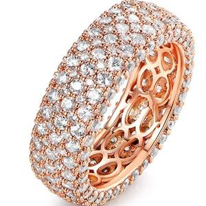 Jewelry - 18k Rose gold plated band ring